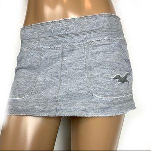 HOLLISTER Shabby Chic Grey Fray Edge Skirt XS